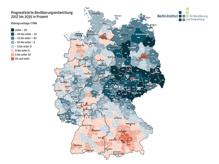 newsimage313461 Wie zukunftsfähig sind deutsche Regionen? Neue Studie zur demografischen Lage Urban Planing