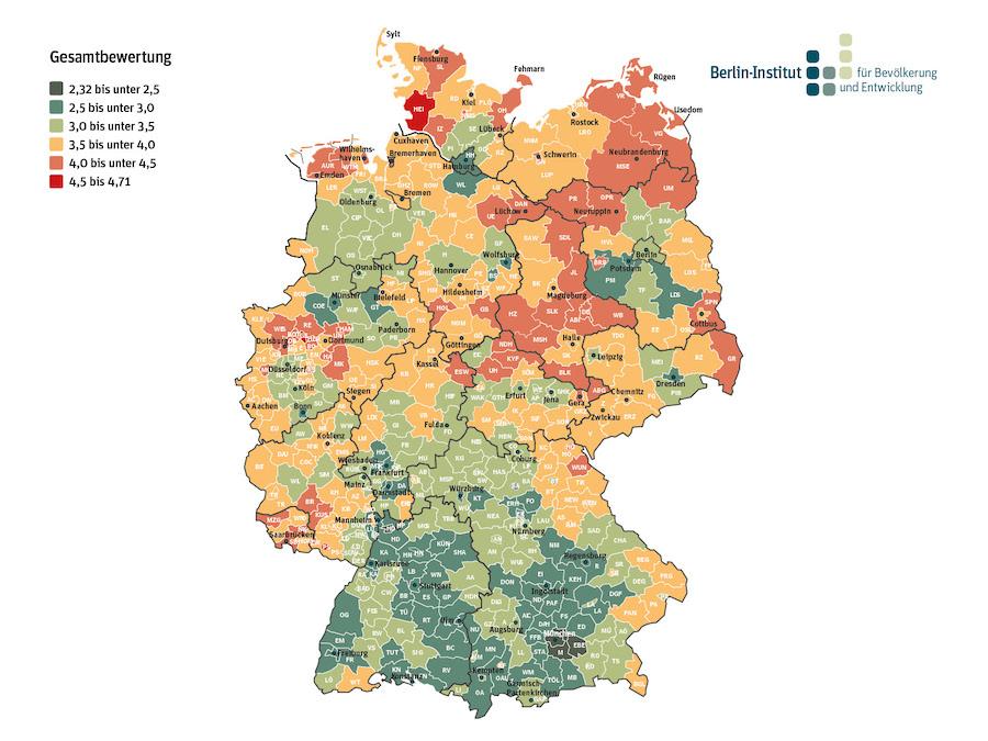 newsimage313462 Wie zukunftsfähig sind deutsche Regionen? Neue Studie zur demografischen Lage Urban Planing